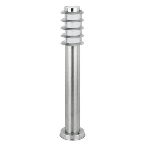 l post light fixtures modern stainless steel chrome outdoor garden bollard
