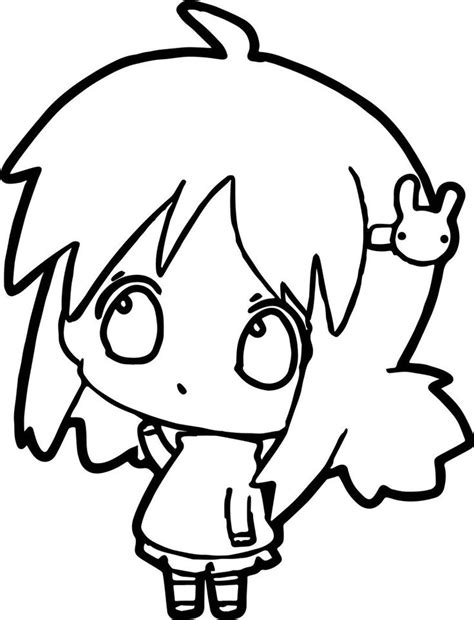 Anime Thinking Girl Coloring Page Also see the category