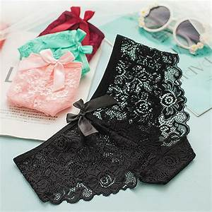 Free Gift Lace Cheeky Knickers Cherry
