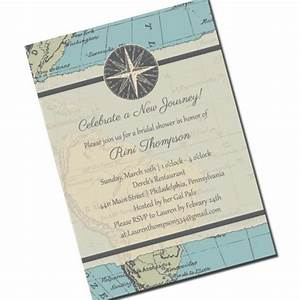travel bridal shower invitation map personalized With wedding invitation wording journey
