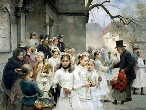 Paintings of Spring: First Communion in painting