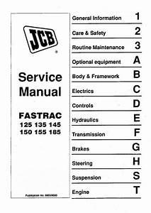 Jcb 125  135  145  150  155  185 Fastrac Service Manual