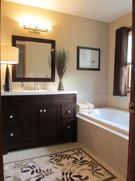master bath light wall color dark cabinets home