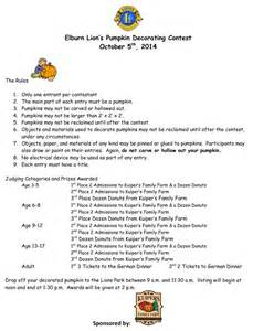Pumpkin Decorating Contest Rules by Pumpkin Decorating Contest Oct 5th