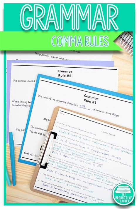 grammar unit comma rules  images comma rules