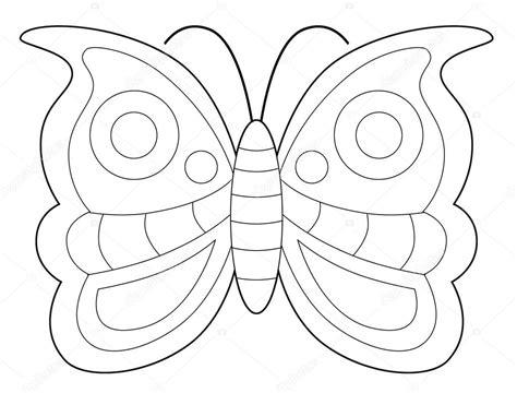 Kleurplaat Maken Illustrator by Vlinder Vliegen Kleurplaat Pagina Stockfoto