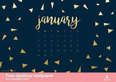 Navy Gold January Desktop Wallpapers Calendar Screensavers