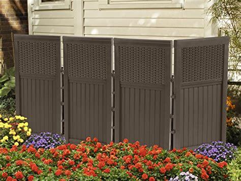 suncast outdoor furniture dubai suncast fsw4423 4 panel resin wicker outdoor screen lawn