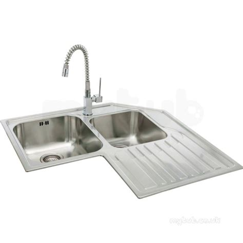 lavella corner kitchen sink with right hand double bowl