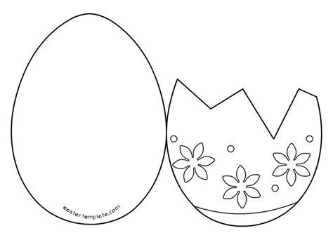 easter card templates free printable easter egg card templates scrapbook egg card card