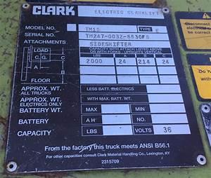 Where Do I Find My Clark Forklift U0026 39 S Serial Number