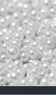 Pile Pearl On White Background Stock Photo (Edit Now ...