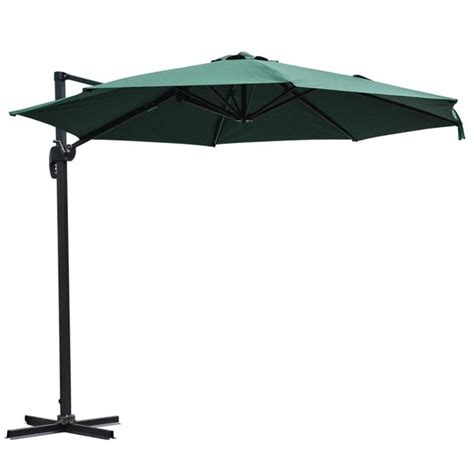 large hanging patio umbrella 10ft outdoor patio hanging offset umbrella with stand