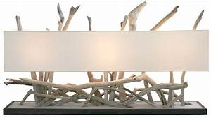 Luminaire En Bois Flotté : abat jour rectangulaire ~ Teatrodelosmanantiales.com Idées de Décoration