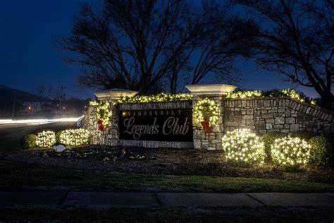 neighborhood entrance christmas decorations lighting light up nashville professional