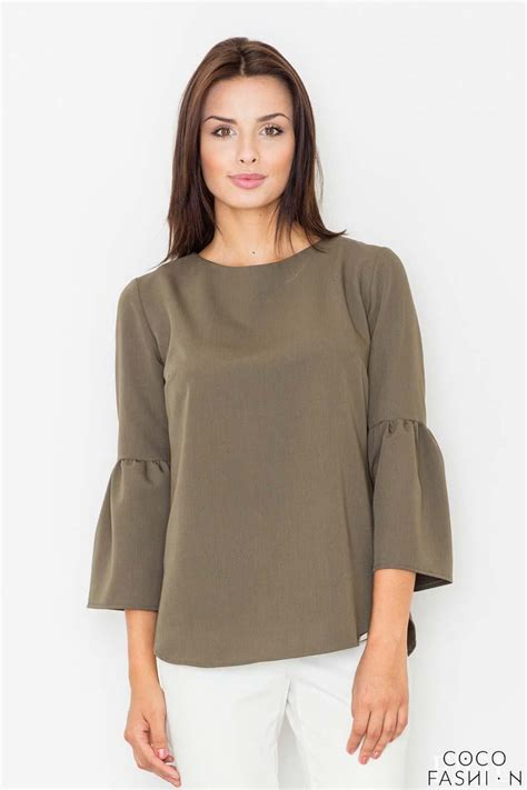 olive green blouse olive green 3 4 sleeves blouse
