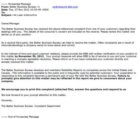 customer bureau sle response letter to the better business bureau