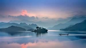Foggy, Lake, Landscape, 4k, 8k, Wallpapers
