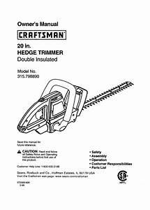 Craftsman Trimmer 315 79889 User Guide