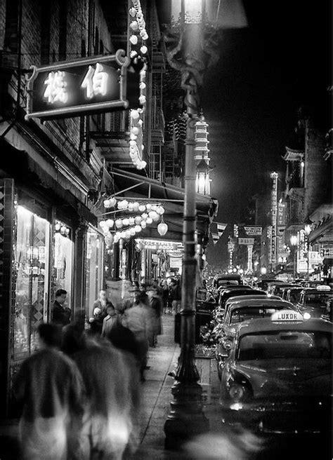 san francisco chinatown  night   vintage