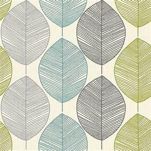 Leaf design wallpaper : Arthouse retro leaf pattern leaves motif designer