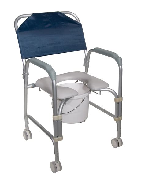 lightweight portable shower commode chair with casters leika