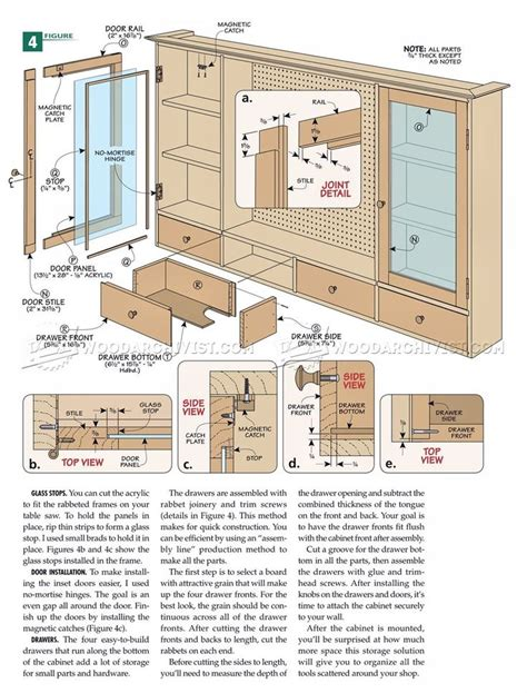 pegboard tool cabinet plans workshop solutions