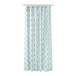 Brown And Aqua Living Room by Ingeborg Shower Curtain Ikea