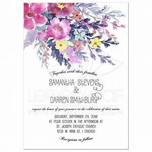 modern pastel watercolor floral wedding invitation With beautiful wedding invitation watercolor flowers