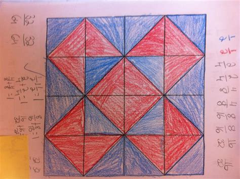 fraction quilt squares  images square quilt math