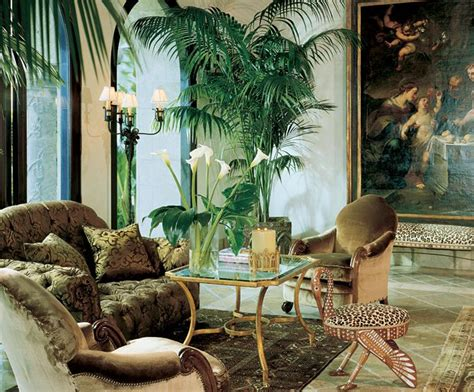 jungle themed living room adorning house  natural