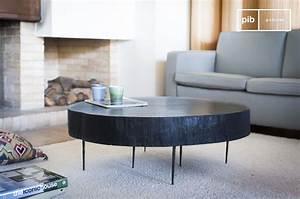 Table Basse Tronc : table basse tronc d 39 arbre noire natural luka pib ~ Teatrodelosmanantiales.com Idées de Décoration