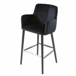 Chaise Velours Noir : chaise de bar vintage en velours noir h110 maisons du monde ~ Teatrodelosmanantiales.com Idées de Décoration