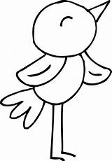 Bird Coloring Spring Clip Clipart Sweetclipart sketch template
