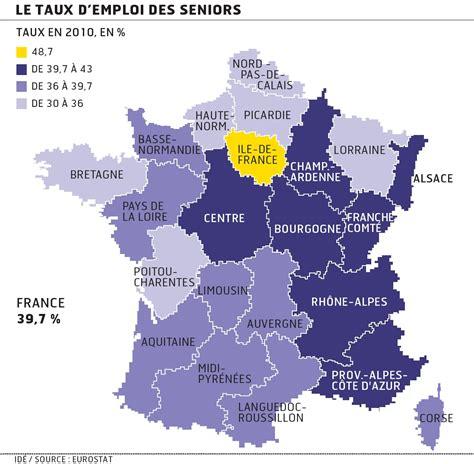 emploi chambre de commerce emploi des seniors les régions françaises à la traîne de