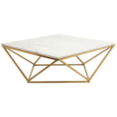 gold base coffee table nuevo jasmine gold coffee table