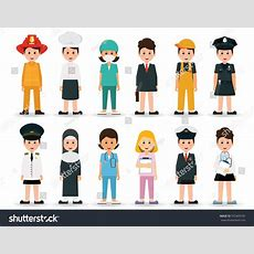 People Professions Occupations Icon Set Isolated Stock Vector 553409185 Shutterstock