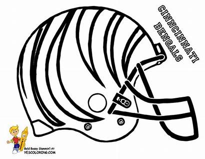 Coloring Football Bengals Pages Chiefs Helmet Cincinnati