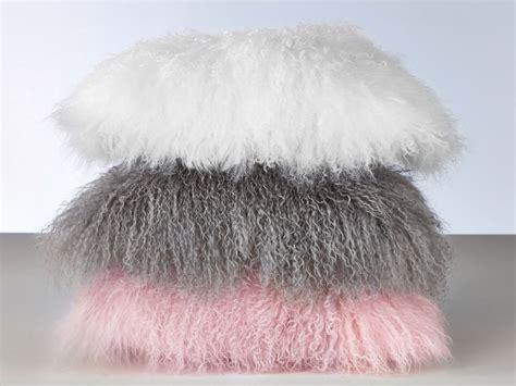housse chaise coussin fourrure laine mouton mongolie poil