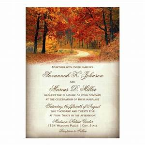 rustic fall leaves autumn wedding invitations zazzle With images of fall wedding invitations