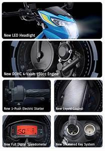 Harga  Fitur  Dan Spesifikasi Suzuki All New Satria F 150