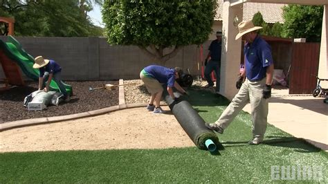install synthetic turf youtube