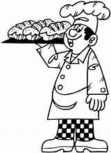 Panadero Colorear Boulangers Baker Patissiers Dibujo Coloriages Coloriage Coloring Jobs Boulanger Dessin Boulangerie Colorier Ocupaciones Patisserie Imprimer Printable Drawing Dibujos sketch template