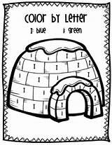 Letter Ii Igloo Coloring Preschool Worksheets Pages Activities Kindergarten Word Printable Teaching Winter Template Letters Alphabet Arctic Words Igloos Teacherspayteachers sketch template
