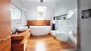 Wooden Floor In 20 Natural Bathroom Designs - Rilane