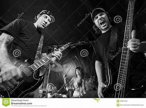 Heavy Metal Band Playing Loud Music Stock Photo - Image ...