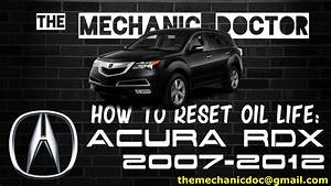 How To Reset Oil Life  Acura Rdx 2007  2008  2009  2010