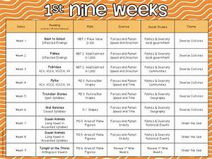 third grade pacing guide perfect for those subjects that With pacing calendar template for teachers