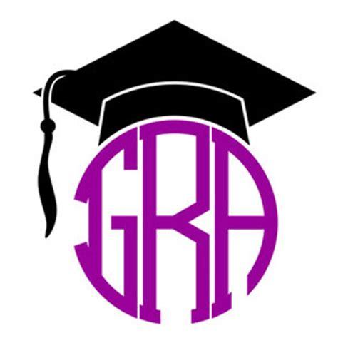 graduation cap monogram svg cuttabe frames