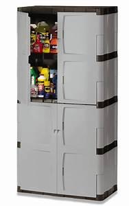 Rubbermaid, Fg708300michr, Full, Double, Door, Cabinet